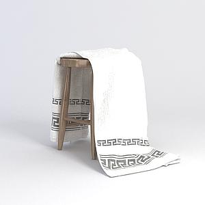 凳子毛巾組合模型