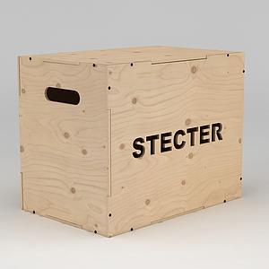 原木盒子模型