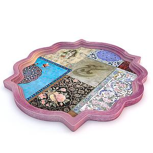 現代兒童四方地毯模型