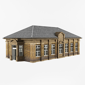現代別墅一層建筑模型