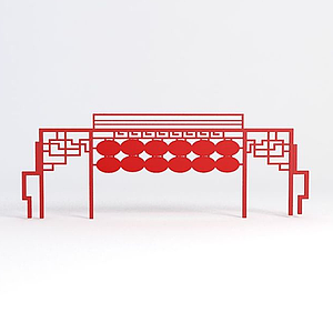 3d中国梦标语模型