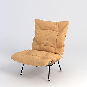 3d黃色椅子模型
