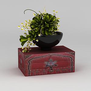 花瓶飾品模型