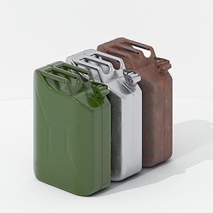 現代油桶油箱模型