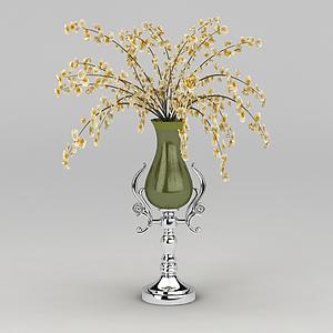 歐式精美花瓶模型