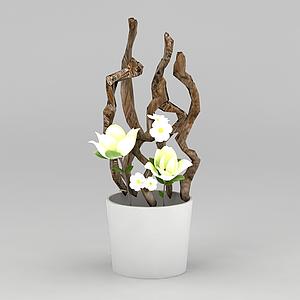 精美装饰花瓶模型