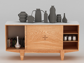 原木柜子模型