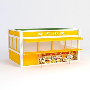3d中式售卖亭模型