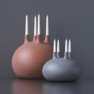 現代多孔蠟燭燈模型