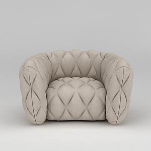 單人沙發模型