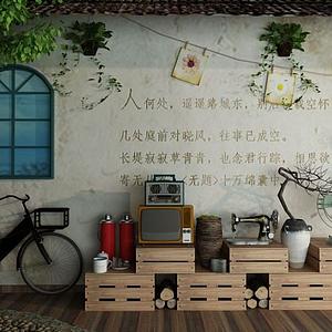 3d<font class='myIsRed'>80年代</font>懷舊自行車暖水瓶模型