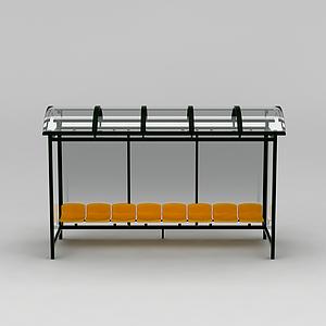 公交站臺休息椅模型
