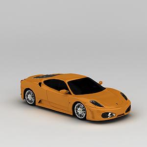 3d黃色跑車模型