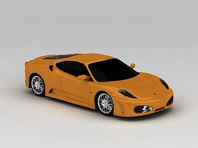 黃色跑車模型