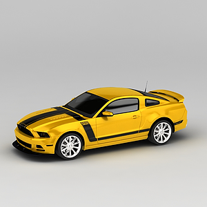 3d黄色<font class='myIsRed'>汽车</font>模型