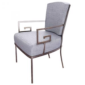 現代設特別扶手休閑椅模型