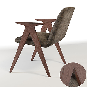簡歐休閑麻椅模型
