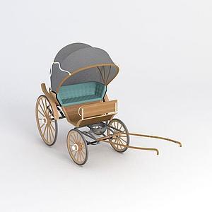 民國黃包車模型