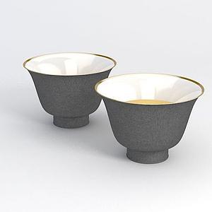 陶瓷茶杯模型
