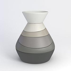 陶藝花瓶模型