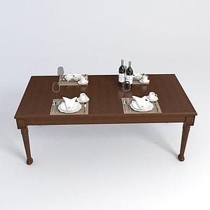 茶几小桌子模型