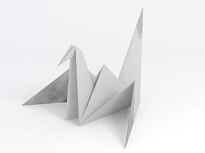 千紙鶴模型3d模型