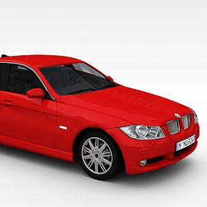 3d红色宝马<font class='myIsRed'>汽车</font>模型
