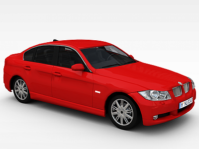 3d<font class='myIsRed'>紅色</font>寶馬汽車模型