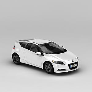 3d白色本田<font class='myIsRed'>汽车</font>模型