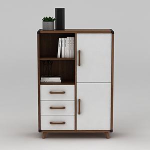 客廳置物柜模型