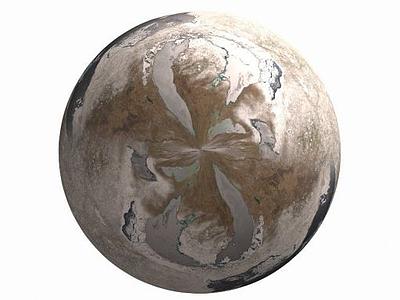 3d冬季星球模型