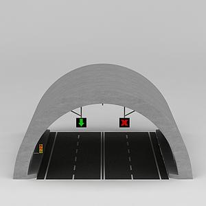 高速路隧道模型