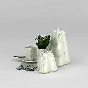 高級茶具模型