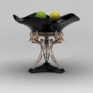 高檔水果盤模型