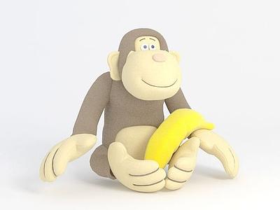 小猴子玩偶模型