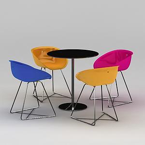 茶吧休閑椅模型