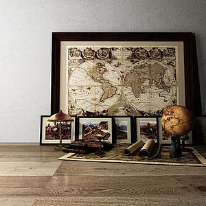 復古地圖模型