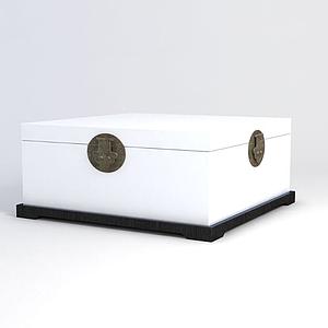 中式箱子模型