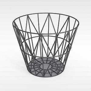 鐵藝收納桶模型