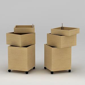 可移動收納盒模型