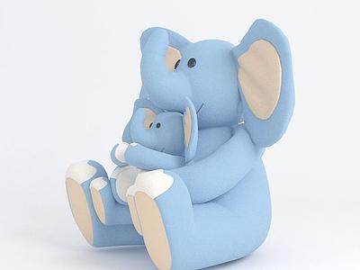 毛絨玩具大象模型