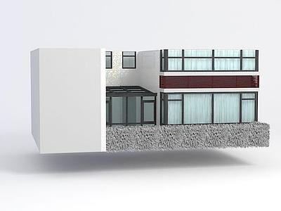 3d陽光房窗戶模型
