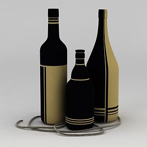 紅酒瓶模型