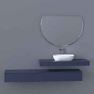 現代洗手間洗手臺水龍頭模型