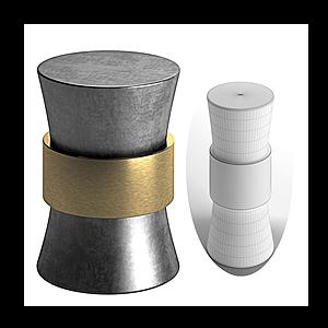 現代金屬燕尾桌模型