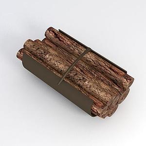 一捆木頭模型