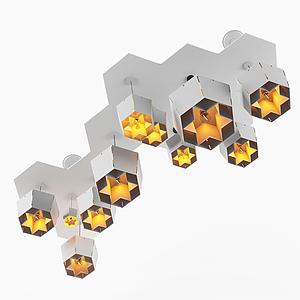 現代花朵型吊燈模型