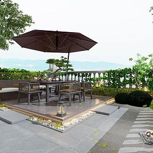 露臺花園模型
