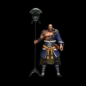 3d游戲角色魯智深模型