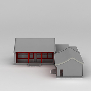 3d中式古典<font class='myIsRed'>房子</font>模型
